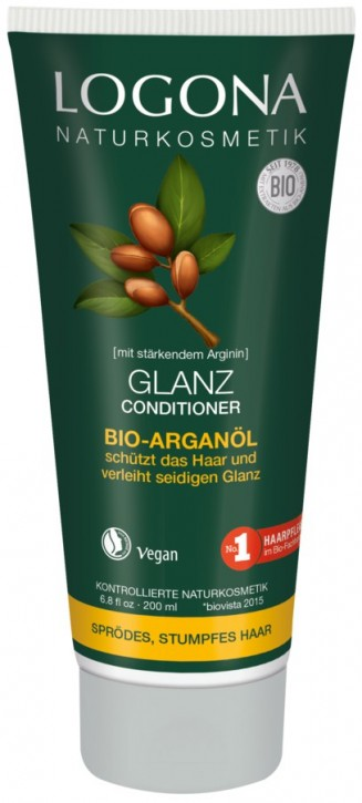 LOGONA Naturkosmetik, Glanz Conditioner Bio-Arganöl - 200 ml