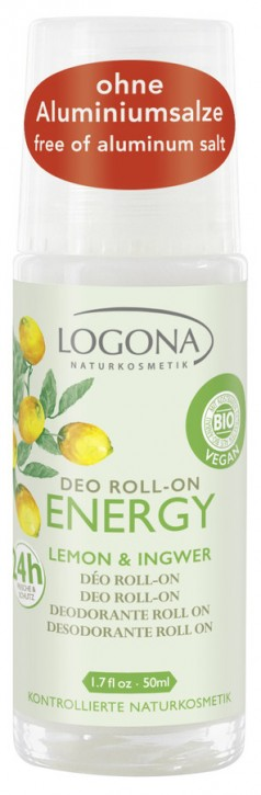 LOGONA Naturkosmetik, ENERGY Deo Roll-on Lemon & Ingwer - 50 ml
