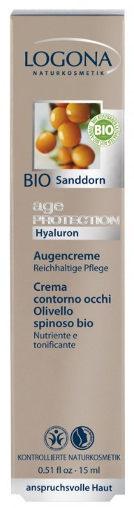 LOGONA Naturkosmetik, Age Protection Augencreme - 15 ml