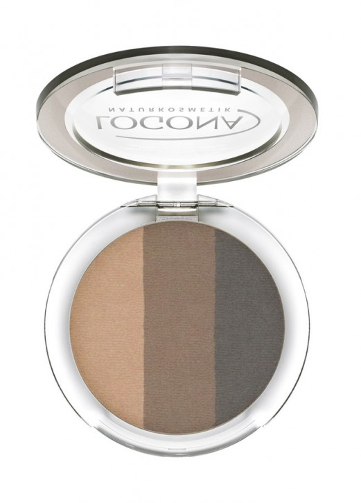 LOGONA Naturkosmetik, Eyeshadow trio No.02 coffee - 3x4 g