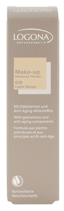 LOGONA Naturkosmetik, Make-up Natural Finish No.02 light beige - 30 ml