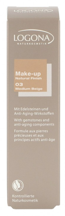 LOGONA Naturkosmetik, Make-up Natural Finish No. 03 medium beige - 30 ml