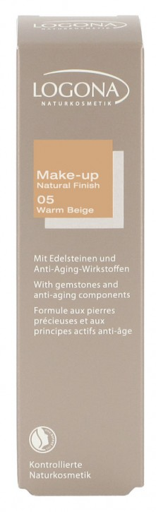 LOGONA Naturkosmetik, Make-up Natural Finish No. 05 warm beige - 30 ml
