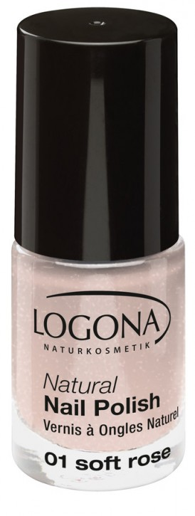 LOGONA Naturkosmetik, Natural Nail Polish No.01 soft rose - 4 ml