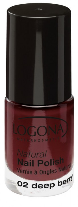 LOGONA Naturkosmetik, Natural Nail Polish No.02 deep berry - 4 ml