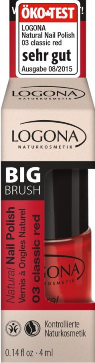 LOGONA Naturkosmetik, Natural Nail Polish No.03 classic red - 4 ml