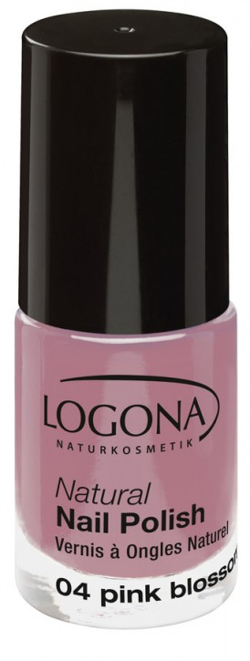 LOGONA Naturkosmetik, Natural Nail Polish No.04 pink blossom - 4 ml