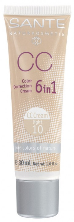 SANTE Naturkosmetik, Color Correction Cream light No.10 - 30 ml