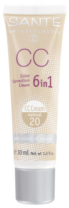 SANTE Naturkosmetik, Color Correction Cream natural No.20 - 30 ml