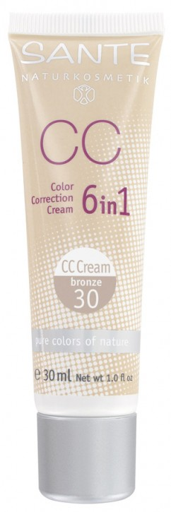 SANTE Naturkosmetik, Color Correction Cream bronze No.30 - 30 ml