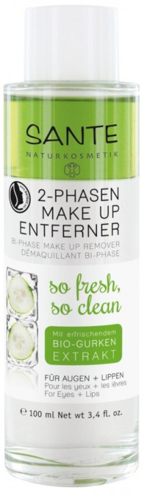 SANTE Naturkosmetik, 2 Phasen Make-up Entferner - 100 ml