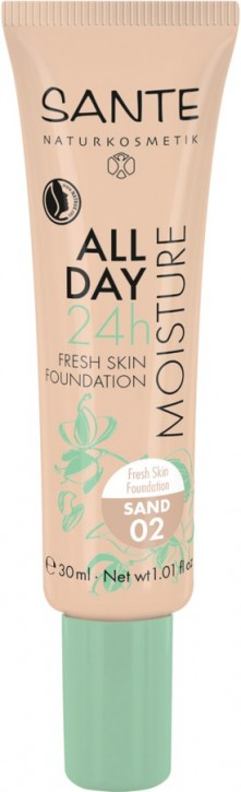 SANTE Naturkosmetik, 24h Fresh Skin Foundation 02 sand - 30 ml