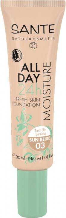 SANTE Naturkosmetik, 24h Fresh Skin Foundation 03 sun beige - 30 ml