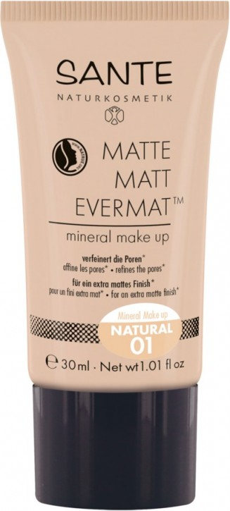 SANTE Naturkosmetik, Matte Matt EvermatTM flüssige Foundation 01 natural - 30 ml