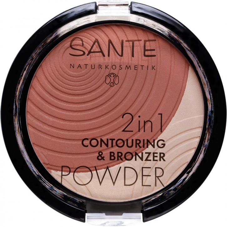 SANTE Naturkosmetik, 2in1 Contouring & Bronzing Powder 01 light-medium - 9 g
