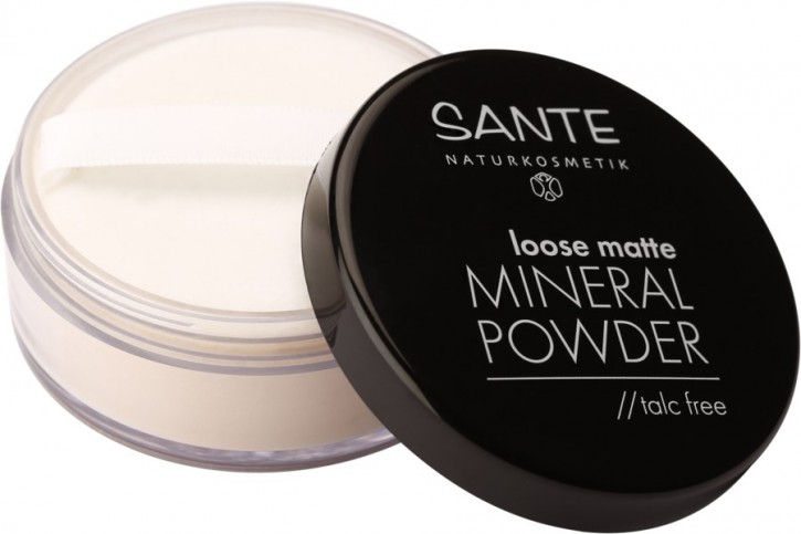 SANTE Naturkosmetik, Loose Matte Mineral Powder 01 light beige - 12 g