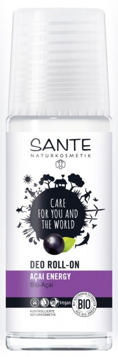 SANTE Naturkosmetik, Deo Roll-on Acai Energy - 50 ml