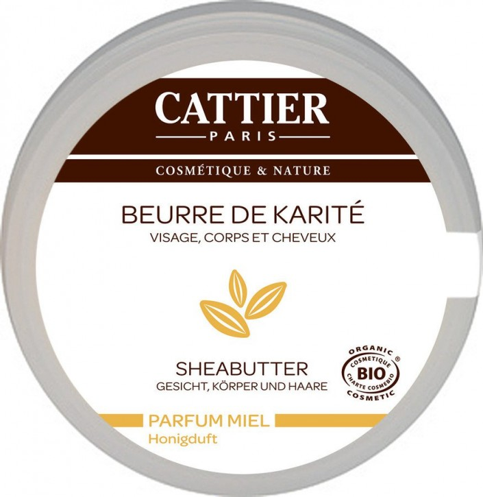 CATTIER Paris, Sheabutter mit Honigduft 100% biologisch - 100 g
