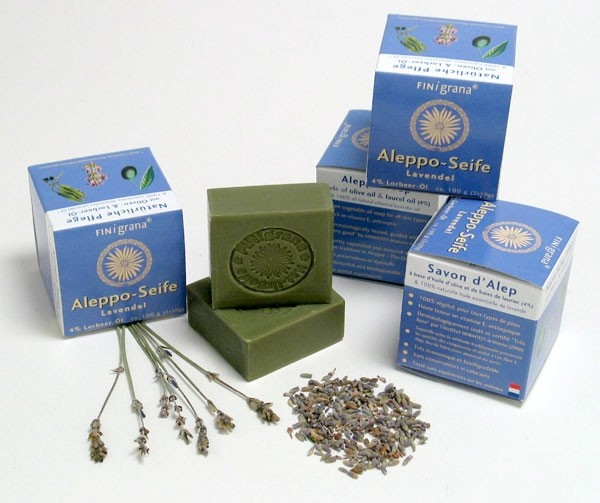 Finigrana, Alepposeife Lavendel m. 4% Lorbeer in Box - 2 x 50 g