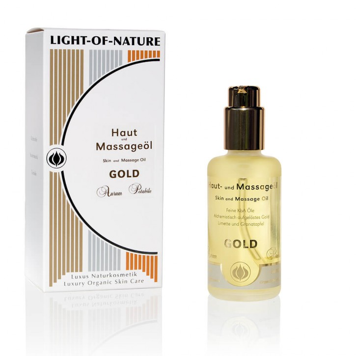 Light-of-Nature, Spagyrisches Gold-Haut- und Massageöl - 100 ml