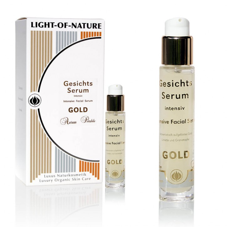 Light-of-Nature, Spagyrisches Gold-Gesichts-Intensiv-Serum - 15 ml