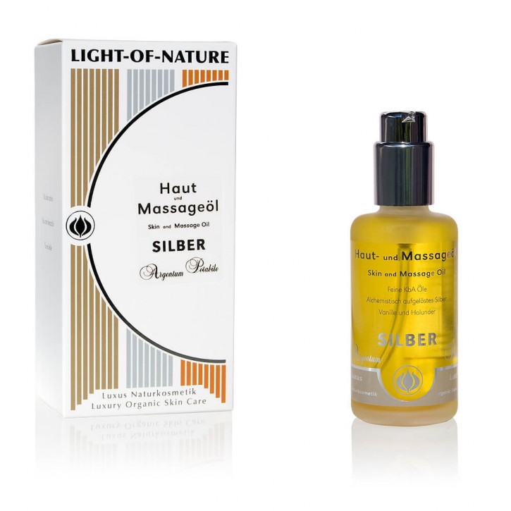 Light-of-Nature, Spagyrisches Silber-Haut- und Massageöl - 100 ml