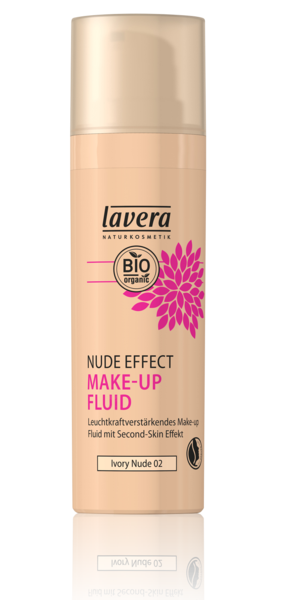 Lavera Naturkosmetik, NUDE EFFECT MAKE UP FLUID -  Ivory Nude 02 - 30 ml