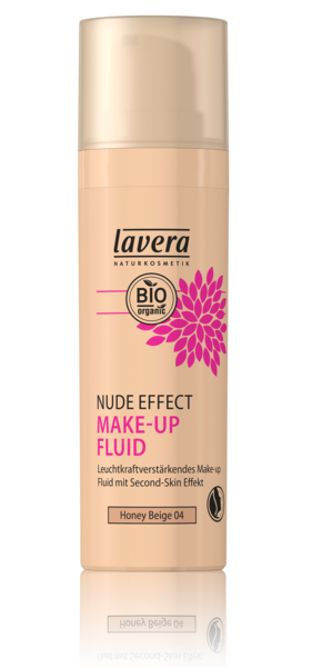 Lavera Naturkosmetik, NUDE EFFECT MAKE UP FLUID -  Honey Beige 04 - 30 ml