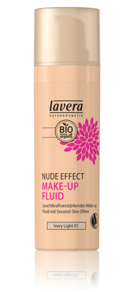 Lavera Naturkosmetik, NUDE EFFECT MAKE UP FLUID - Ivory Light 01 - 30 ml