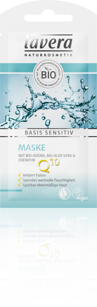 Lavera Naturkosmetik, Basis sensitiv Antifalten Maske mit Q 10 - 10 ml