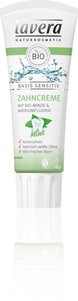 Lavera Naturkosmetik, Basis sensitiv Zahncreme mint - 75 ml